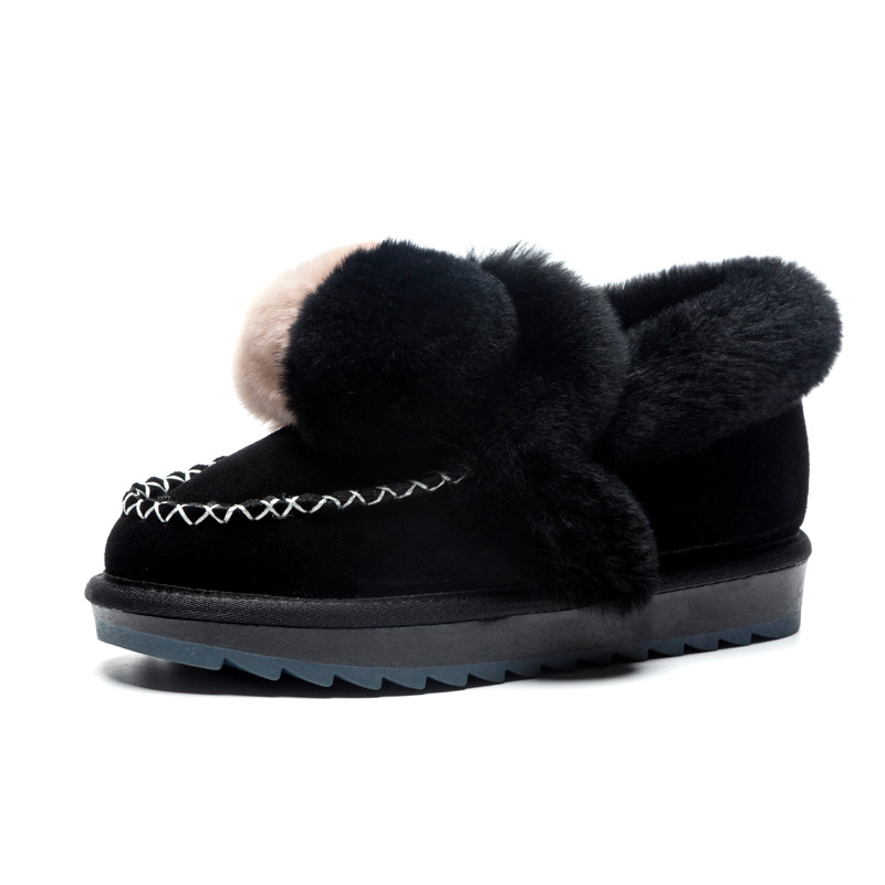 01c37e9ae Купить Женские зимние сапоги из хлопка, женские зимние сапоги, женская  зимняя обувь, зимние кожаные сапоги на плоской подошве с натуральным мехом,  ... Цена ...