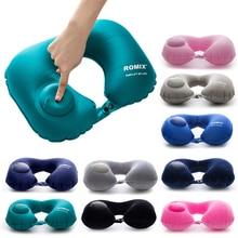 1 шт. надувная подушка для шеи, подушка для путешествий, u-образная воздушная подушка, подушка для шеи, переносная подушка для отдыха головы, подушка для полета, разные цвета