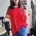 Футболка Femme 2017 Лето Женщина Clothing Корея Ulzzang Harajuku Отпечатано С Коротким Рукавом футболки Для Женщин Случайные Свободные Футболки