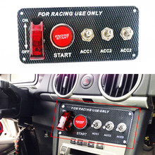 DC12V Universal switch panel for racing car Ignition Switch+toggle quick off start button with Indicator light