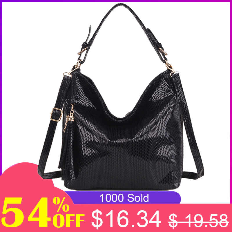 Serpentine women shoulder bag female hobo ladies top-handle hand bag big  purses and handbag 1a2b256019c18