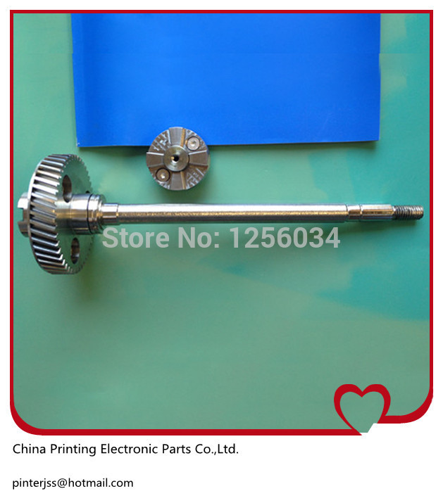 Heidelberg SM52 spare parts alcohol gear shaft head, stainless steel material 20pcs heidelberg sm52 pm52 o seal 00 580 4270 r 60x3mm paper suction spare parts