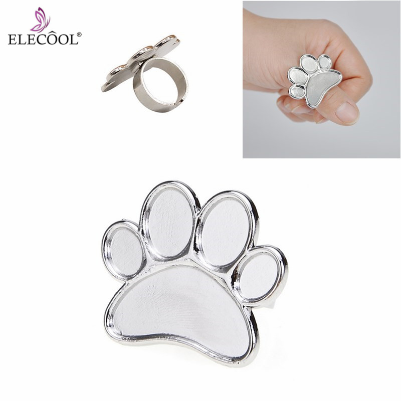 ELECOOL Mini Nail Art Color Palette Eye Shadow Mixing Plate Nail Art Tool Finger Ring Mixing Color Palette For Nail Painting