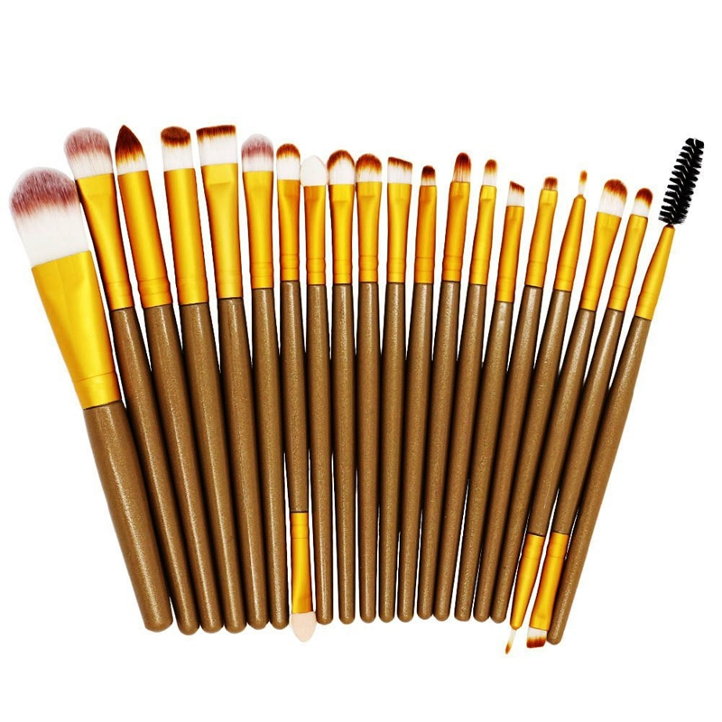 2016 Beauty 22pcs Makeup Brush professional Brand Make up Sponge Puff Blender Cleaner Foundation powder eyebrow Brushes Cosmetic candy color calabash shaped cosmetic makeup cotton pads sponge puff pink