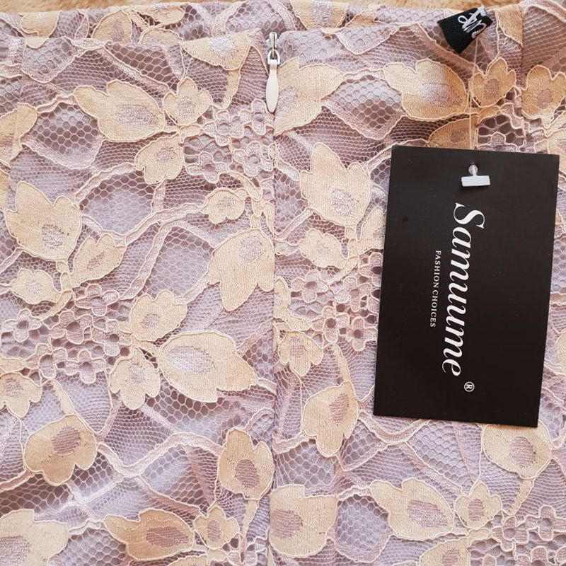 c771cc7dfb Samuume Elegant High Waist Floral Lace Skirt 2018 Office Work Bodycon Slim  Women Wrap Midi Pencil Skirts Faldas Mujer S1710305-in Skirts from Women's  ...