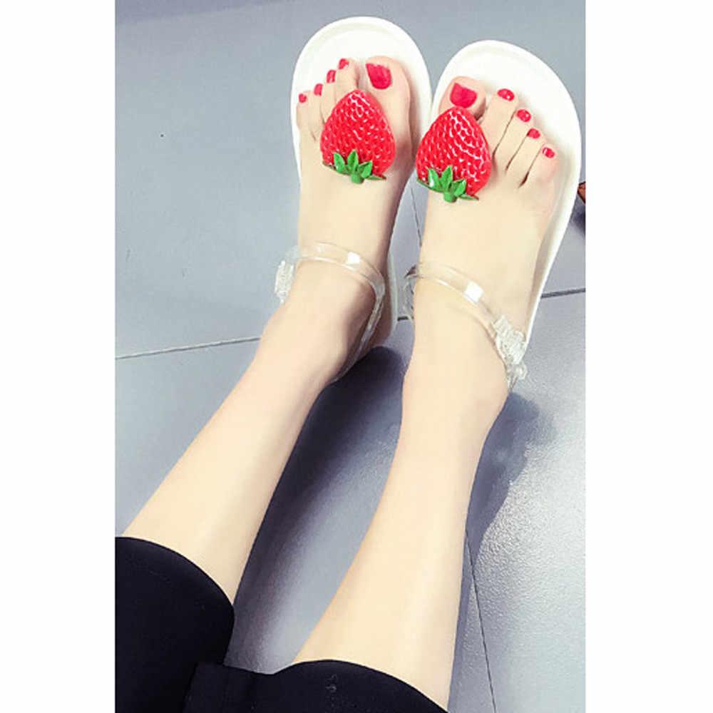 4264223ad5 Women Fruit Flip flops Sandals Shoes Girls Plate Flip Flop Beach Sandals  Women Slippers Sandalias Mujer Sandale Femme