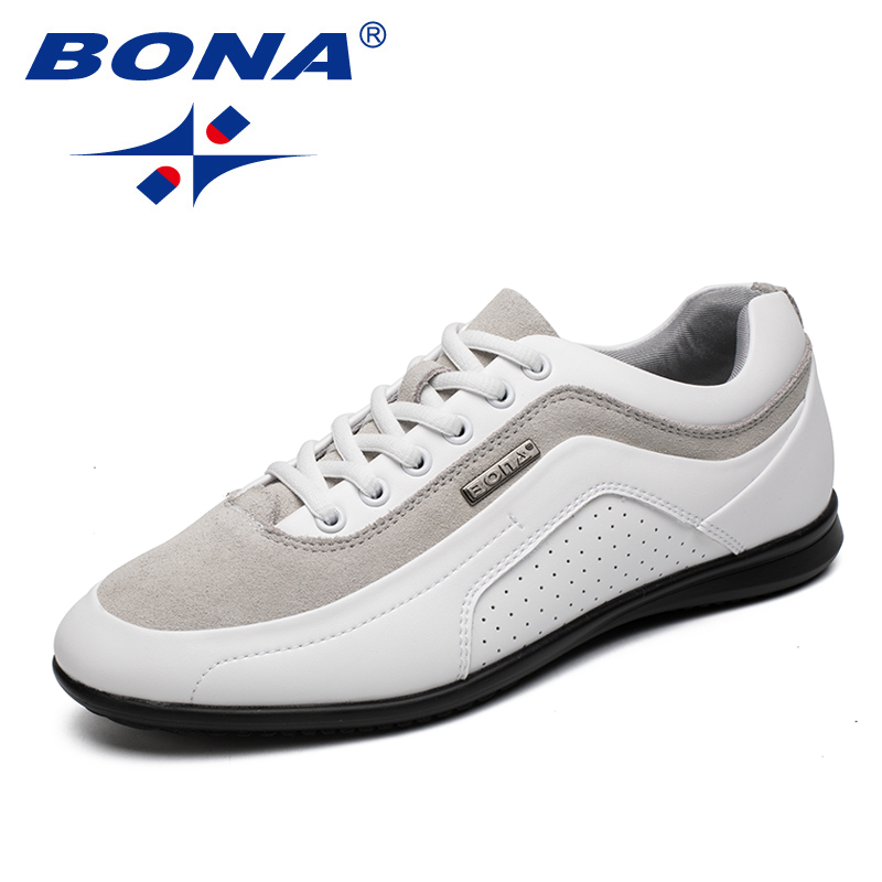 BONA New Fashion Style Men Casual Shoes Lace Up Men Loafers Microfiber Male Shoes Comfortable Men Flats Soft Fast Free Shipping-in Men's Casual Shoes from Shoes    1