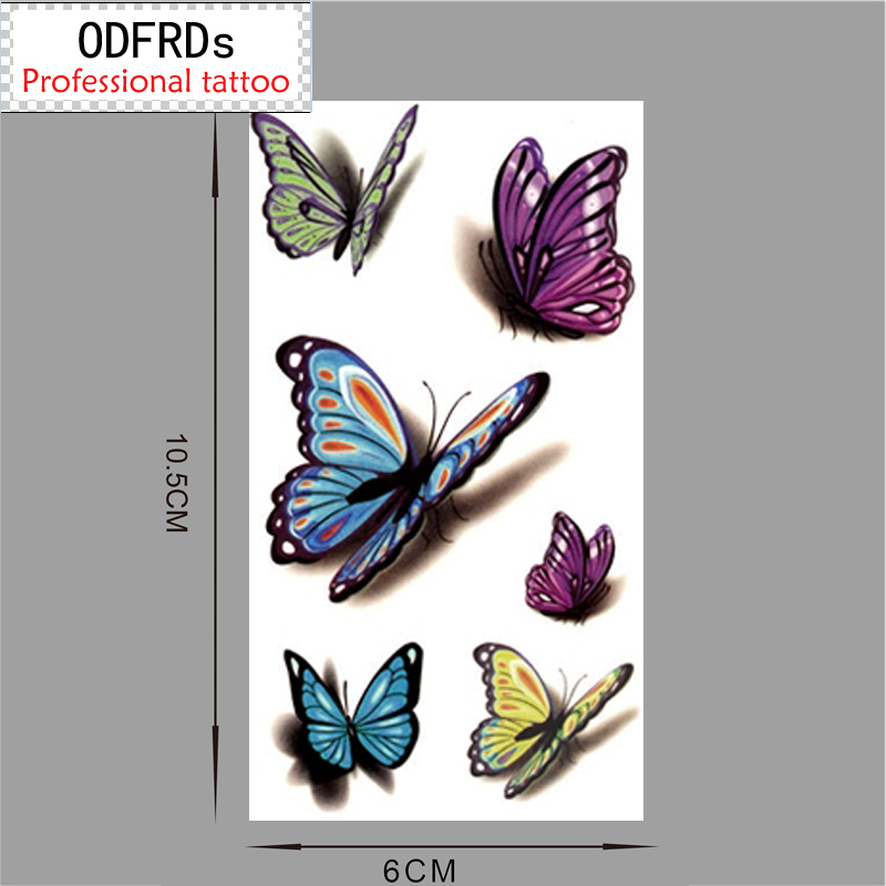 Sex Products Temporary Tattoo For Man Woman Waterproof Stickers makeup maquiagem make up 3d butterfly Tattoo WM004B
