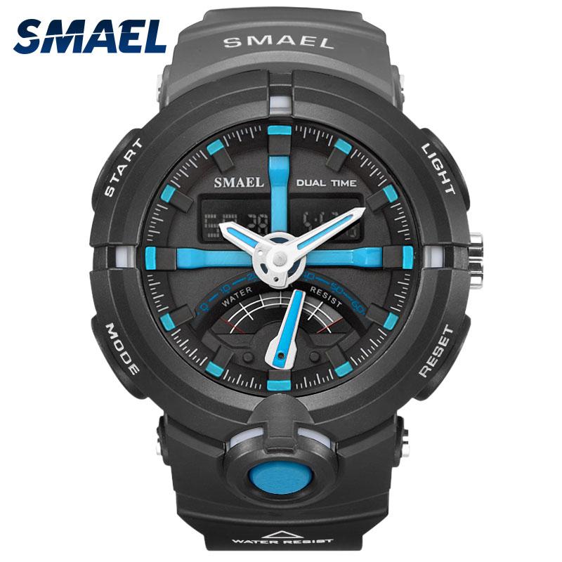 SMAEL Brand Mens Watches Top Brand Luxury 2017 Waterproof Watchband Chronograph Males Clock 1637 Digital Men