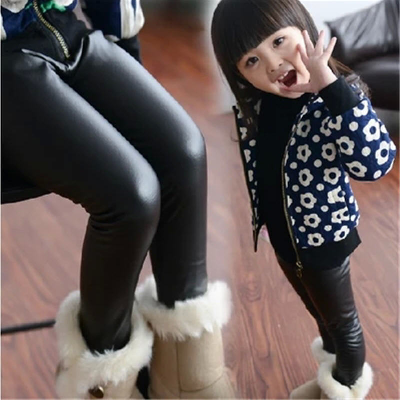 ed2e791ebecc5 Wholesale Hot Girls Leggings 2-16Y Children Clothing Kids Leather Leggins  Child Faux Leather Pants