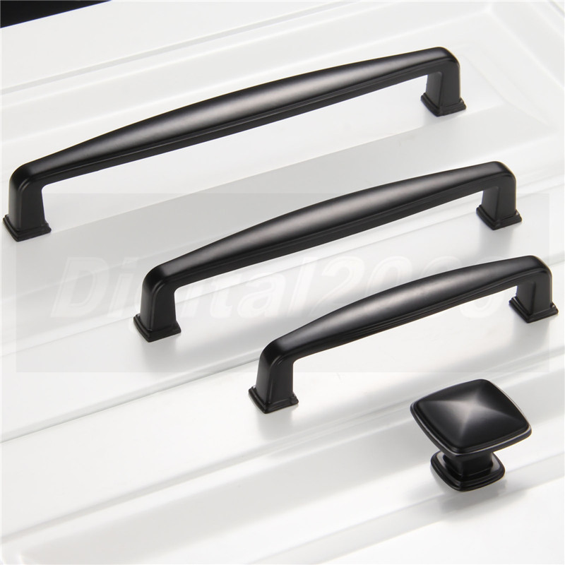 popular black kitchen cupboard handles-buy cheap black kitchen