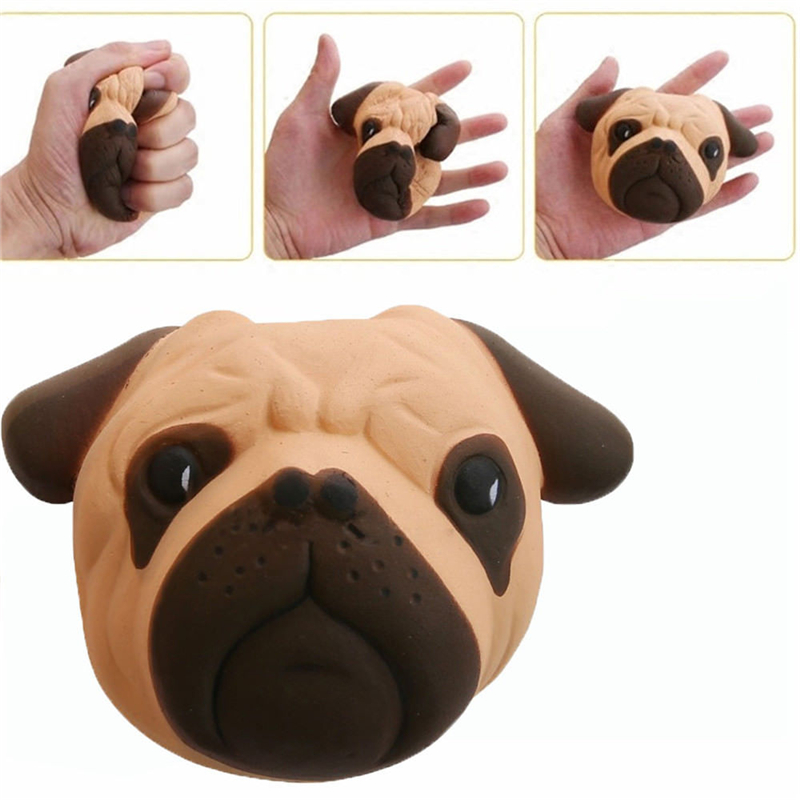 Squishy Squish Adorable Dog's Head Slow Rising Squishies Fruits Scented Cream Squeeze Toys Antistress Gadgets Stress Relief Toy