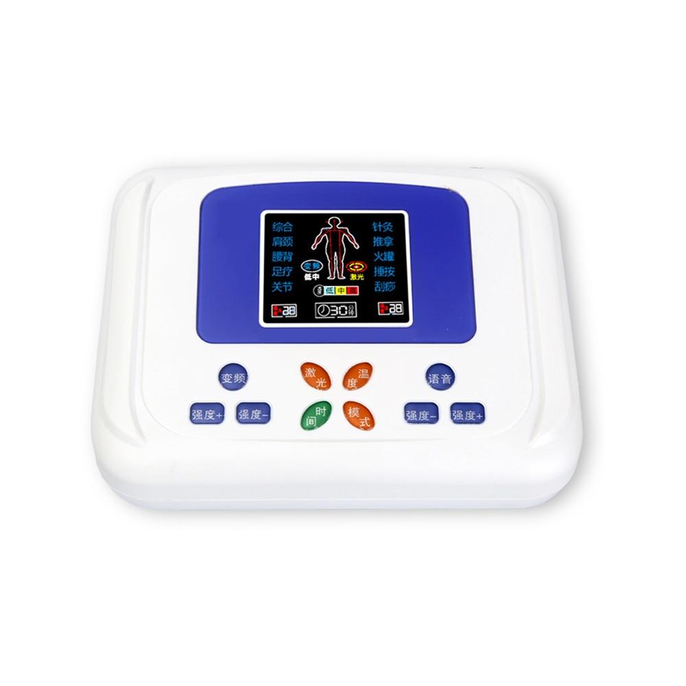 Multifonctionnel laser treatmentinstrument faible équipement de massage du dos acupuncture méridien physique physiothérapie instrument