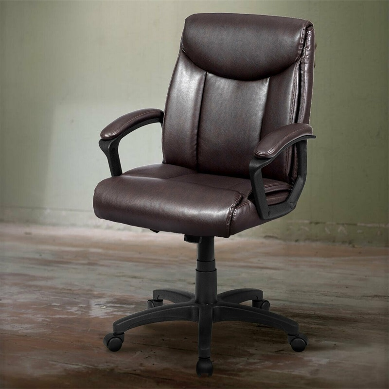 Wondrous Us 100 84 32 Off Ergonomic Pu Leather Mid Back Computer Office Chair 360 Degree Rotating Seat Heavy Duty Nylon Base Modern Look Chair Hw61042 In Machost Co Dining Chair Design Ideas Machostcouk