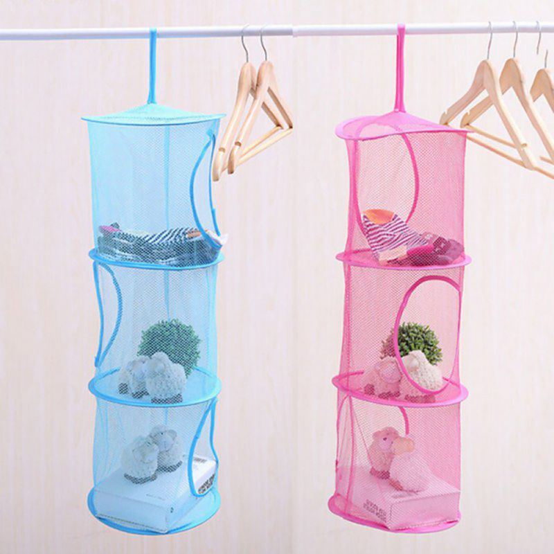 Shelf Hanging Organizer Storage Net Kids Toy Bedroom Wall Door Closet Organizers Bag ...
