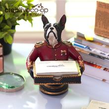 General dog organizer do kart biura na biurko artykuły wyposażenia wnętrz kreatywne ozdoby do domu żywiczne etui na karty artykuły wyposażenia wnętrz tanie tanio Fairyland Knight Ceramiczne i emaliowane Retro i nostalgiczne stare meble Maskotka