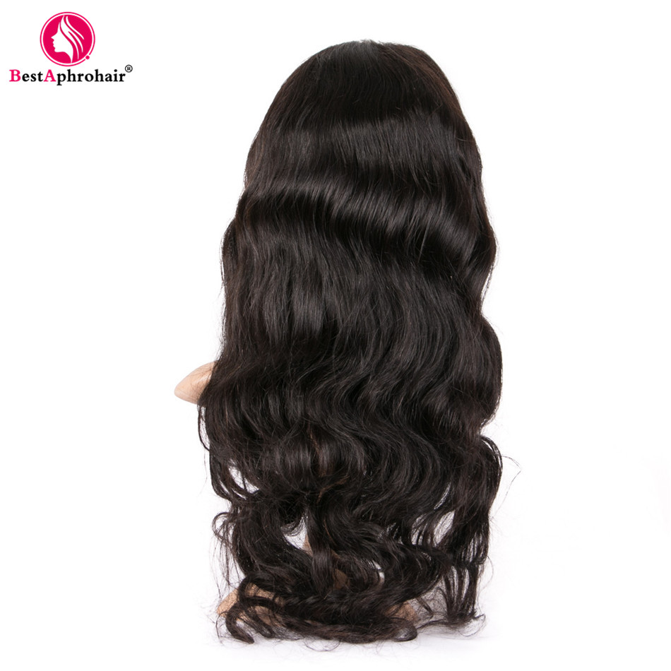 150% Density Body Wave 360 Lace Frontal Wig Pre Plucked With Baby Hair Remy Human Hair Wigs For Women Aphro Brazilian Hair Black