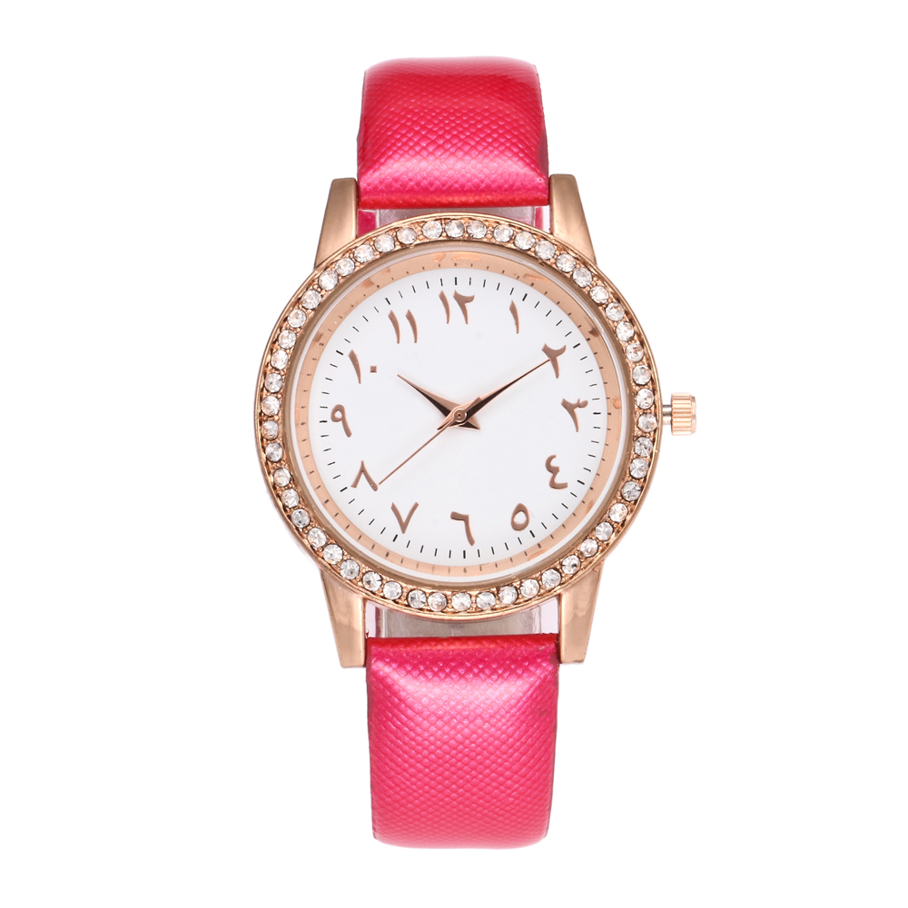 Luxury Brand Arabic Numbers Women Watches Ladies Elegant Crystal Muslim Quartz Watch Montre Femme Relojes Mujer Horloges Vrouwen