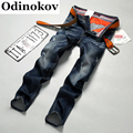 2017 Brand Men Denim Jeans Straight Slim Male Cowboy Jeans Pants Fashion Classical Casual Style Men Blue Business  Jeans