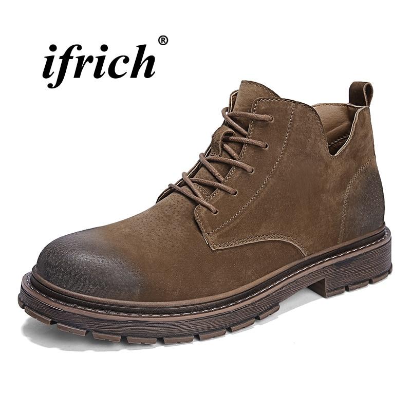 7a38ac06746516 Confortable Jeunes À Brun L'usure brown gray Mode Luxe De Moto Résistant  Noir Bottes Chaussures ...