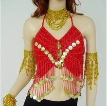 Belly Dance Hanging Coins Butterfly Bra Sports