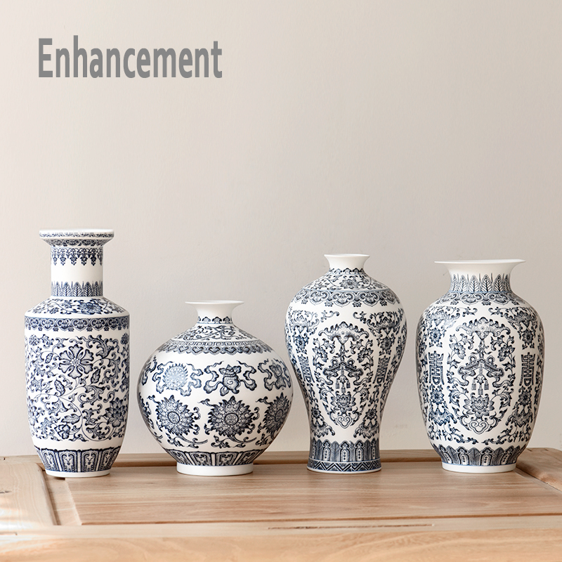 Aliexpress.com : Buy Blue and White Ceramic Vase Design Porcelain ...