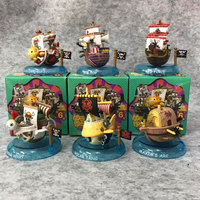 6Pcs/set ONE PIECE Pirate Ship THOUSAND SUNNY Going Merry Big Top Polar diving Maxim ark Action Figure Collectible Model Toy Box