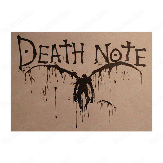 Death Note Wall Sticker Craft Poster