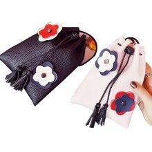 Women Leather Handbags Mini PU Phone Bag Tassel Wood Ball Women Messenger Bags Female Small Hand Bag Mini Crossbody Purse Bolsas
