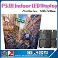 24 pcs 6 metro quadrado interior p3.91 levou 65410 pixels de alta resolução levou parede de vídeo/metro quadrado de alto brilho 20by20'' gabinete