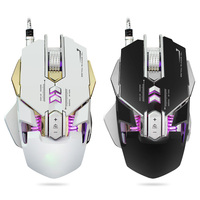 G560 3200DPI Optical Programmable 4 Cool LED Lights 7 Buttons Wired Gaming Mouse High End Chip