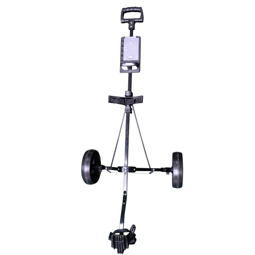 HLC 2 wheel Steel Golf Pull Cart Black