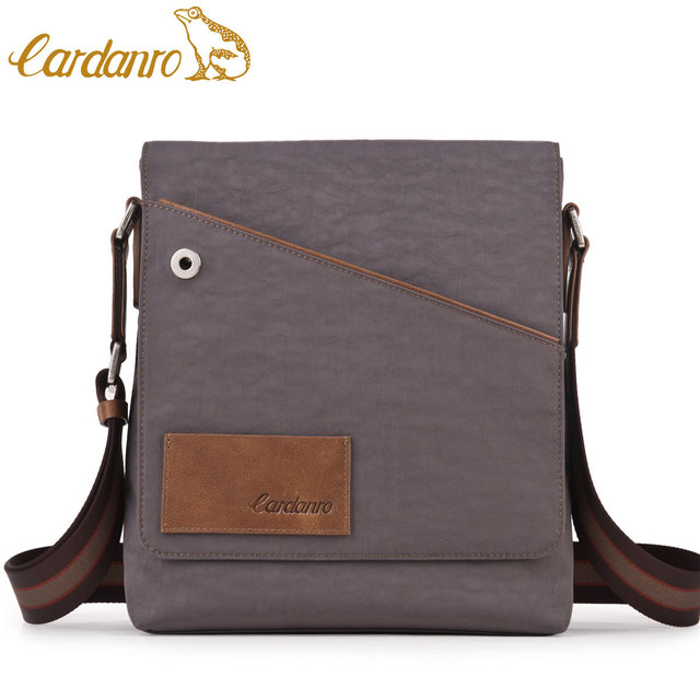 CARDANRO man bag senior waterproof fabric men s commercial genuine leather  shoulder bag messenger bag 96c03967b5f45