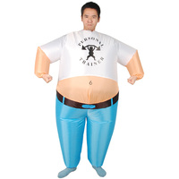 Adult Inflatable Wrestler Wrestling Costume Big Giant Mascot costume Full Body Suit Fat Man Airblown Sumo Anime Cosplay Clothes