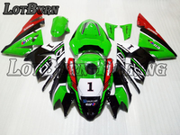 Мото мотоцикл обтекатель комплект подходит для Kawasaki ZX10R ZX 10R ZX 10R 2004 2005 04 05 ABS Пластиковые обтекатели обтекатель комплект 001