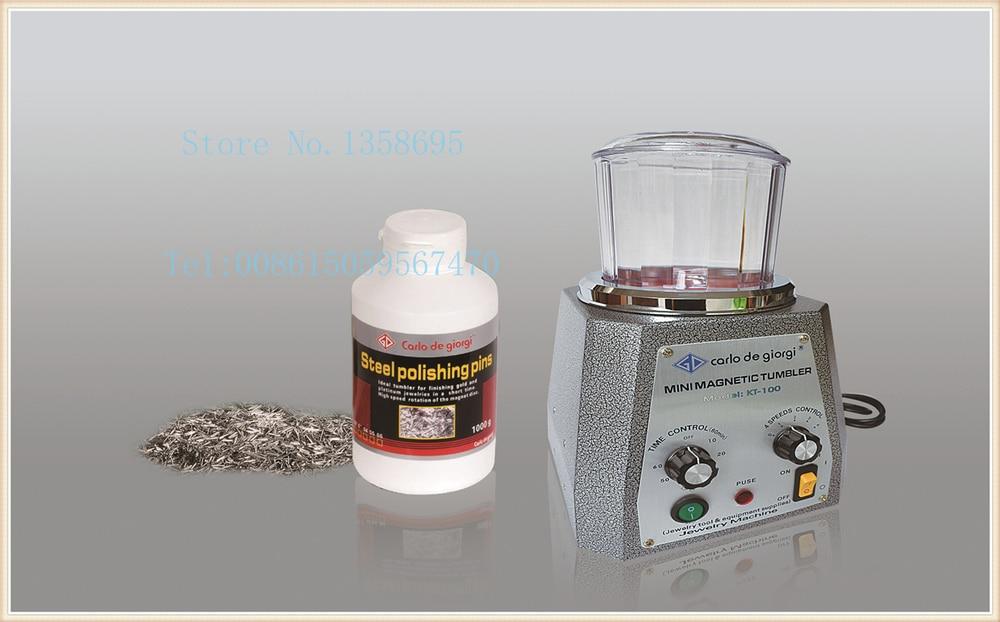 KT-100 MAGNETIC TUMBLER - magnetic JEWELRY POLISHER & gold FINISHING tumbler,diamond cleaning machine,rotary tumbler brand new magnetic tumbler 130mm jewelry polisher