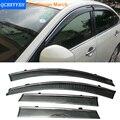 Stylingg Toldos Abrigos 4 pçs/lote Viseiras Da Janela do carro Para Nissan March 2011-2016 Sol Chuva Escudo Adesivos Covers