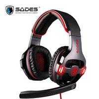 Sades SA-903 USB 7.1 Gaming Headset Grote Bedrade Hoofdtelefoon met Mic Volumeregeling Ruisonderdrukking Voor razer gamer casque