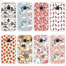 Case For Samsung Galaxy J1 mini prime Soft Silicone TPU Cute Pattern Paint Phone Cover For Samsung J1 mini prime Cases(China)