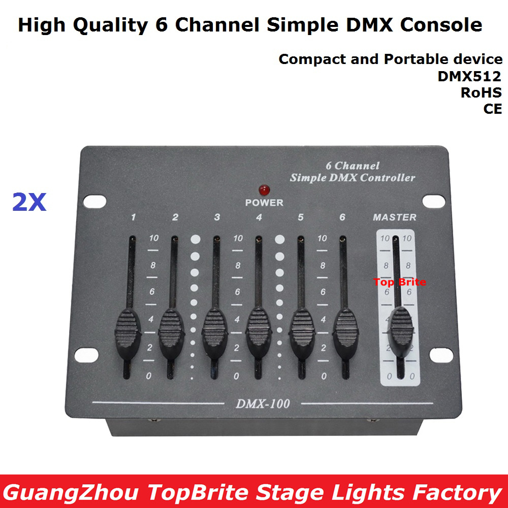 2XLot Big Discount 6 Channel Simple DMX Controller For Stage Lighting 512 DMX Console Dj Controller Equipments Free Shipping tiptop stage light 2xlot big bubble