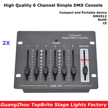 2XLot Big Discount 6 Channel Simple DMX Controller For Stage Lighting 512 DMX Console Dj Controller Equipments Free Shipping 2xlot big discount 6 channel simple dmx controller for stage lighting 512 dmx console dj controller equipments free shipping