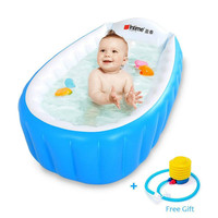 Baby Inflatable Bathtub, Portable Infant Toddler Non Slip Bathing Tub Travel Bathtub Mini Air Swimming Pool Kids Foldable Basin