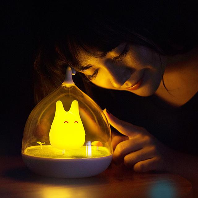 Nightlight Estilo o Mais Novo A Totoro Portátil Sensor de Toque USB LEVOU Sensor de Toque Lâmpada de Cabeceira Noite Lâmpada Luz Da Noite do bebê Para crianças