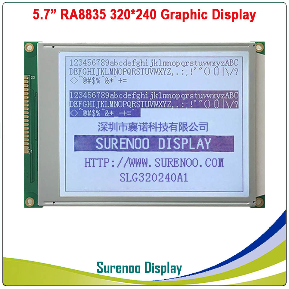 "Image 3 - 5.7"" 320X240 320240 Graphic LCD Module Display Panel Screen LCM with RA8835 Controller Blue Gray LCD, LED Backlight-in LCD Modules from Electronic Components & Supplies"