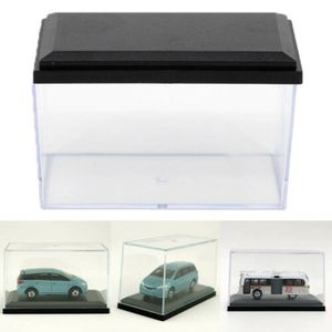 Clear Dust-proof Acrylic Display Case for 1:64 Scale Car Black Base Diecast Model Toy Car Home Decoration(China)