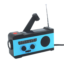 Emergency Solar Radio With Hand Crank Power Phone Charger Mu