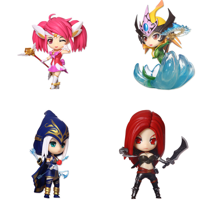 ФОТО 14cm q edition cute lol action figures model doll toys lux nami katrina ashe decorate kids gifts collectibles desktop ornament