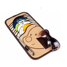 Hot Sale 10pcs Disc Capacity Bear PatternTidy Sleeve CD DVD Car Sun Visor Card Case Wallet Storage Holder Bag Free shipping