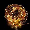 Hada cadena luces de la batería operado de USB a prueba de agua 2 m 10 m 100 LED luces de cadena de 33FT de alambre de cobre Alambre de Firefly de vacaciones luces de tira