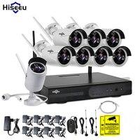 Hiseeu 8CH CCTV System WI FI 720P 1 0MP Wireless NVR Night Vision IP Camera Wifi